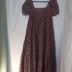 FREE PEOPLE CORDUROY MAXI PRAIRIE DRESS!